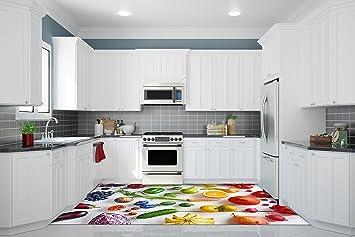 Ruvitex 3D Küche Boden Vinyl Dekor PVC Bodenbelag Teppich Aufkleber ...