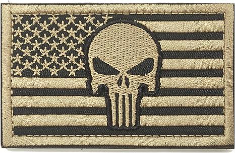 WZT American bandera de El Castigador parche Militar parche/Velcro moral: Amazon.es: Juguetes y juegos