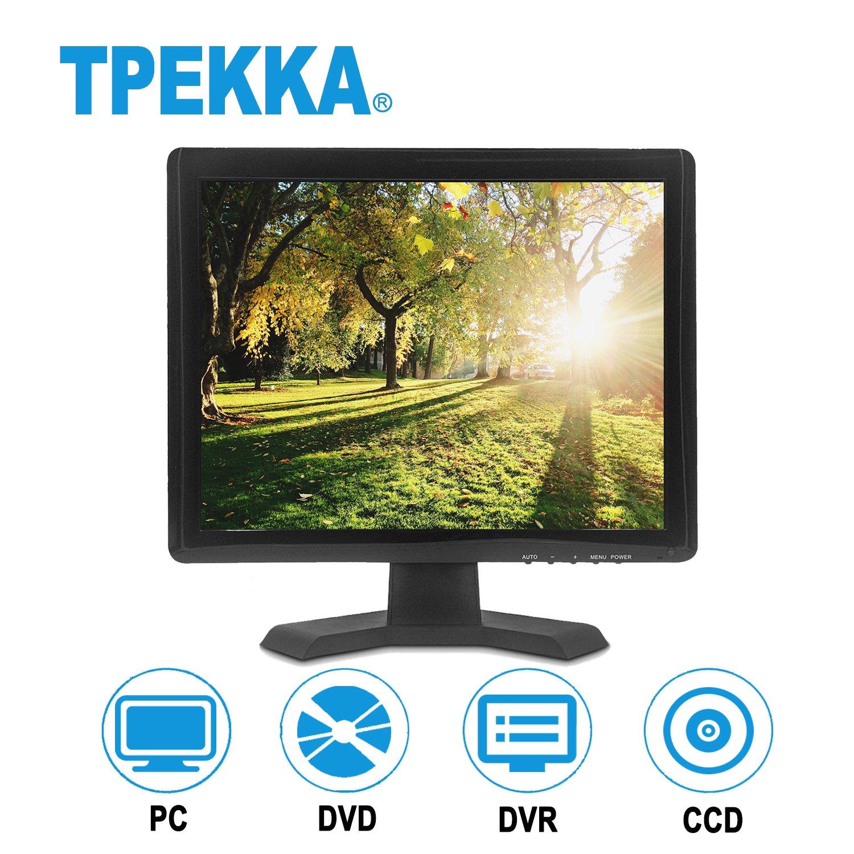 TPEKKA 15'' Inch 1024x768 TFT LCD 4:3/16:9 Monitor HDMI BNC AV VGA Input CCTV Monitor Display for TV Computer Screen FPV DVD Home Security System