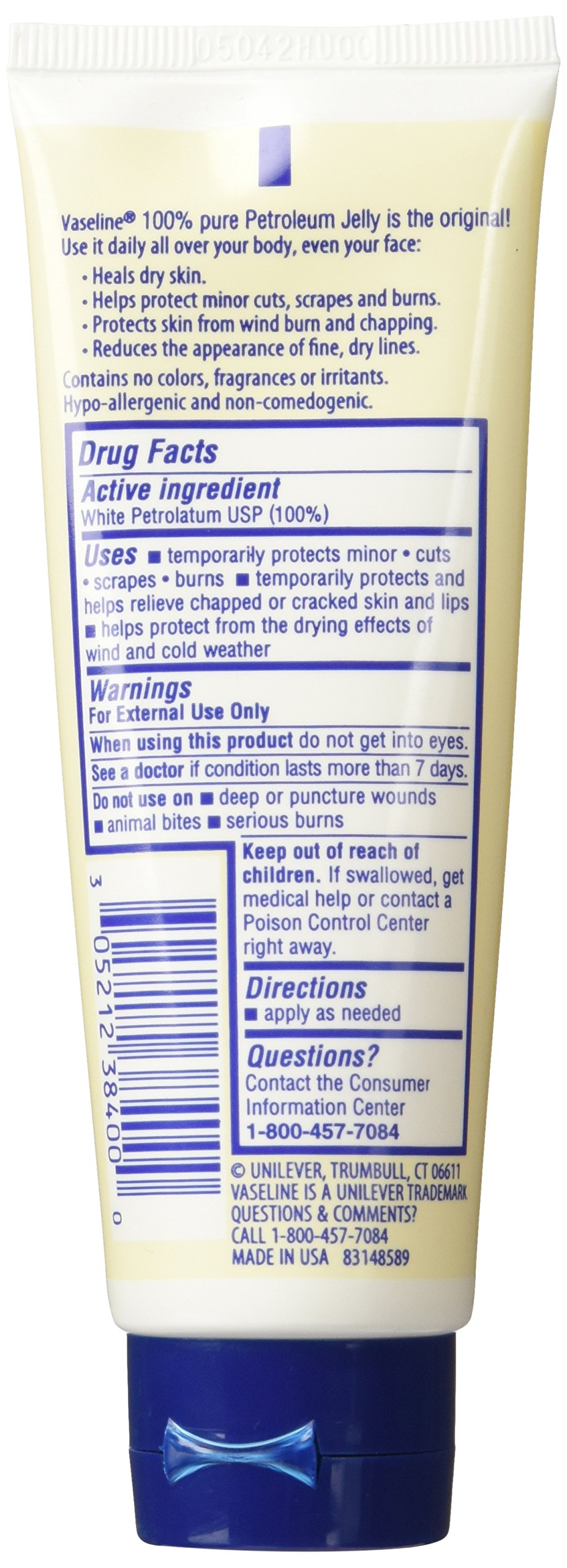 Vaseline Petroleum Jelly, Original 2.5 Ounce (Pack of 3)