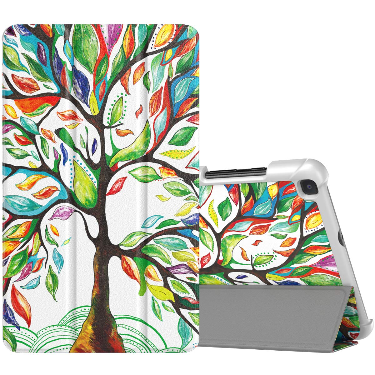 TiMOVO Folio Case for Samsung Galaxy Tab A 8.0 2019 (T290/T295),Premium Slim Folding PU Leather Stand Cover Case for Galaxy Tab A 8.0 2019 Tablet,Not Fit Galaxy Tab A 8.0 2017/2018 - Lucky Tree