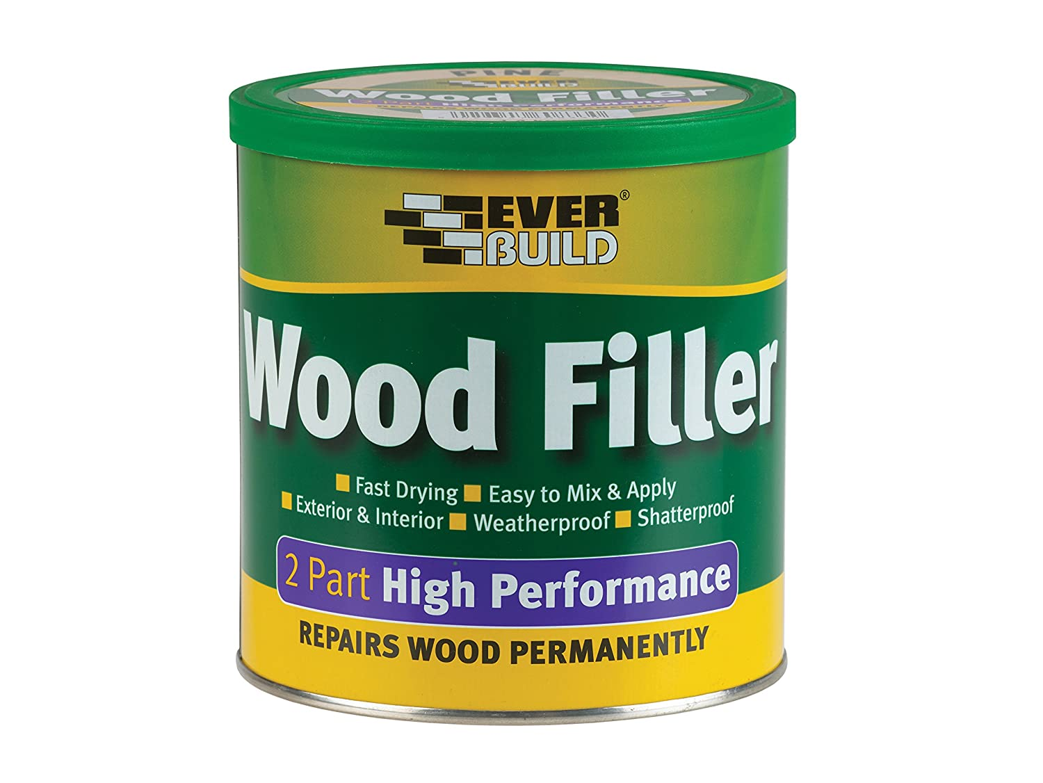 Everbuild EVBHPWFMH500 2 Part High Performance Wood Filler 500 g, Mahogany Toolbank