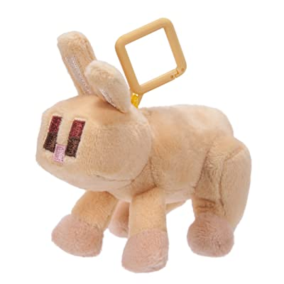 Minecraft 16686 Mini Plush with Clip Rabbit – Waves 1: Toys & Games