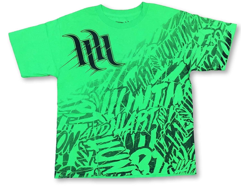 Lifestyle Moto Boys Youth Crew Neck Green T-Shirt X-Large 18
