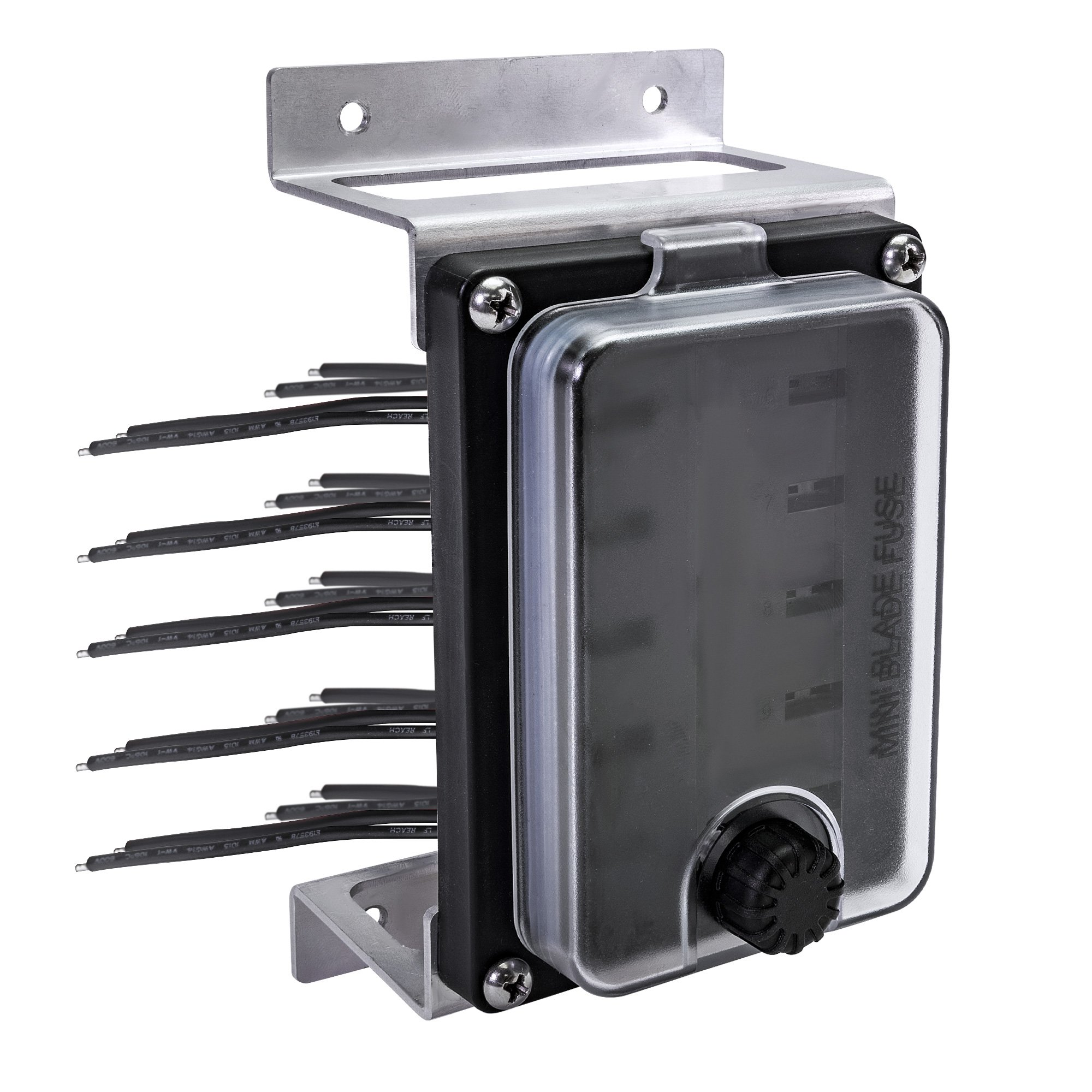 Waterproof 10 Way Mini Fuse Block 20a Mounting Brackets 1pc 5x36x2 Box Mounts The Ip56 Rated Ols Protects Your Electronic Circuits Against Moisture And Dust With A Watertight Gasket For Its Front Cover