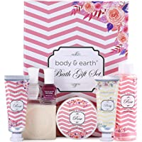 Birthday Gifts for Women,Spa Gifts Box for Her - Rose Scented Luxurious 8 Piece Spa Kit for Women,Include Shower Gel…