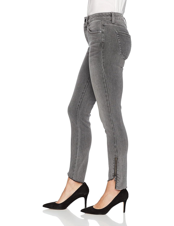 Level 99 Womens Abbie Mid Rise Uneven Zip Slant Hem