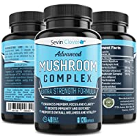 Organic Lions Mane Mushroom Capsules - Choq - Cordyceps | 120 Capsules 16mg - Immune System Booster - Promotes Mental Clarity, Daily Supplement - Wellness Formula for Natural Energy & Stress Relief