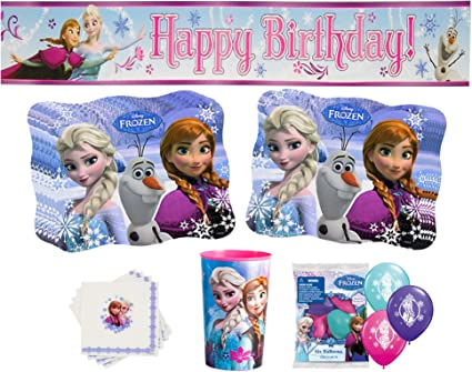 DISNEY FROZEN JUMBO BANNER KIT ~ Birthday Party Supplies Decorations Anna Elsa