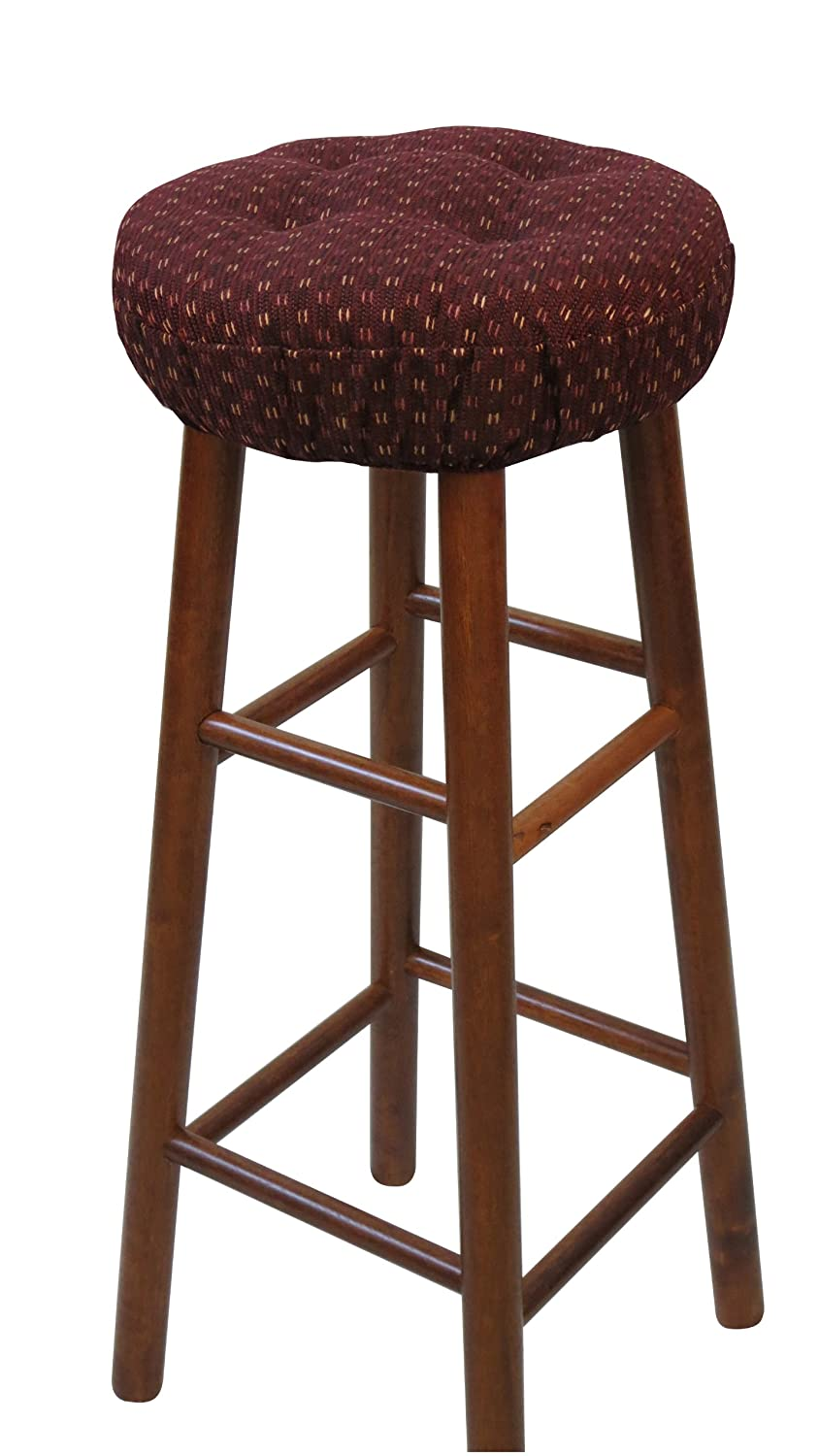 Amazon.com: Klear Vu Gripper Twinlakes Barstool Cover, Navy: Home ...