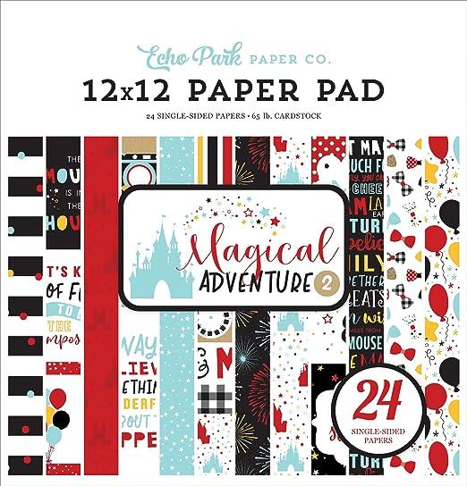 Marcos y etiquetas papel kraft color negro amarillo Echo Park Paper Company MAG177025 Magical Adventure 2 verde azulado rojo