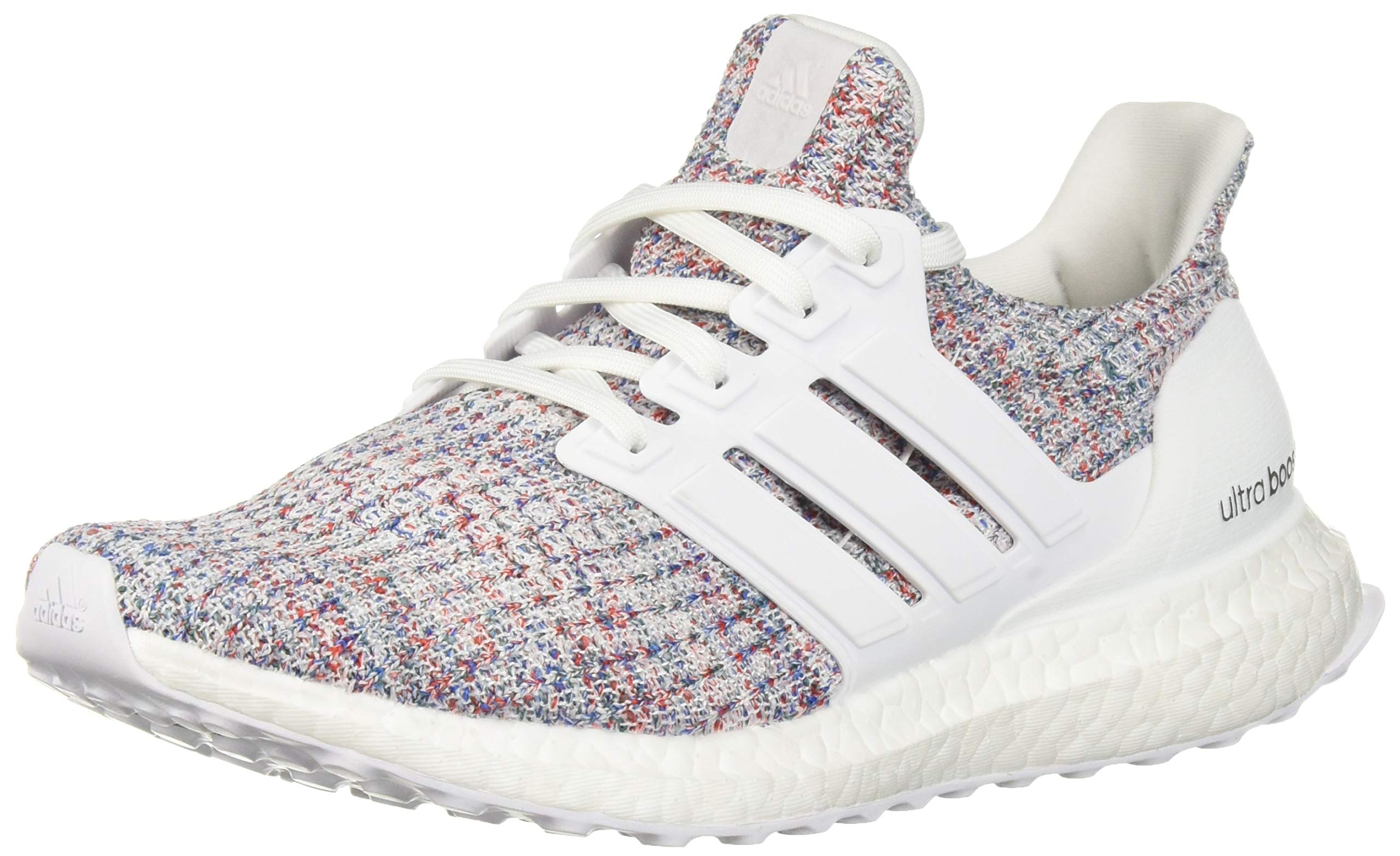 adidas Women's Ultraboost, White/Active red, 10.5 M US by adidas