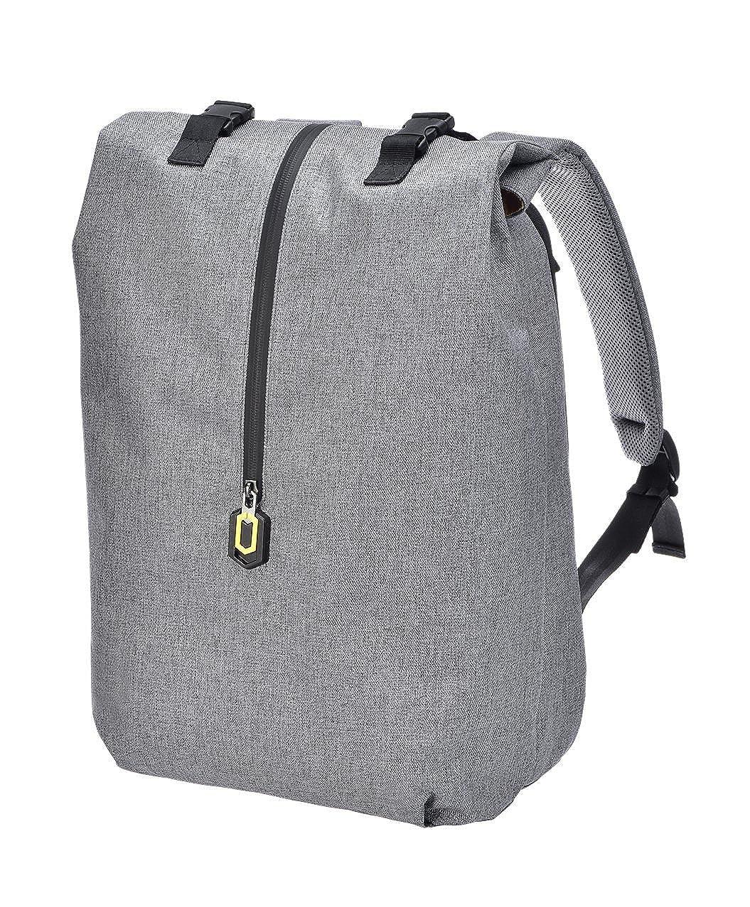 90楽しい学校ブックバッグビジネス作業14インチノートパソコンバックパックCommuter Bag Pack for Men Boys  グレー B072MJHN1Z