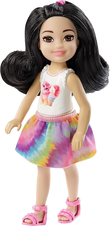 Mattel Barbie Chelsea-Muñeca Pelo Negro, Juguetes 3 años, Multicolor FXG77