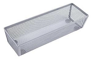 """Finnhomy Mesh Drawer Organizer and Shelf Storage Bins School Supply Holder Office Desktop Cabinet Sliver 3"""" x 9"""""""