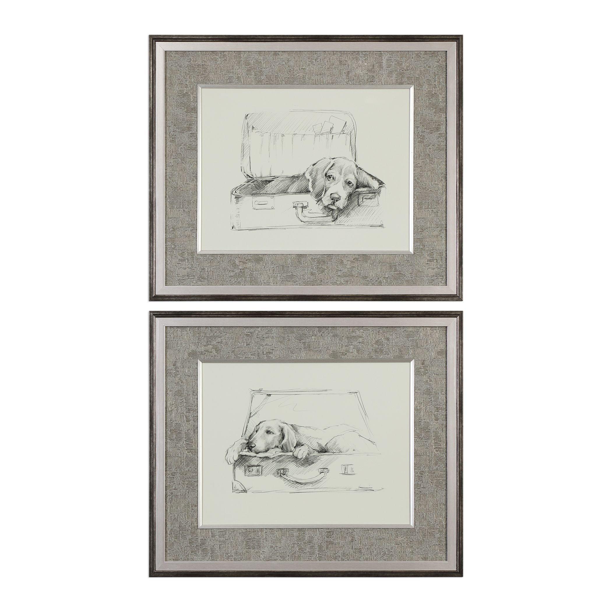Uttermost 33678 Stowaway Dog Framed Prints - Set of 2