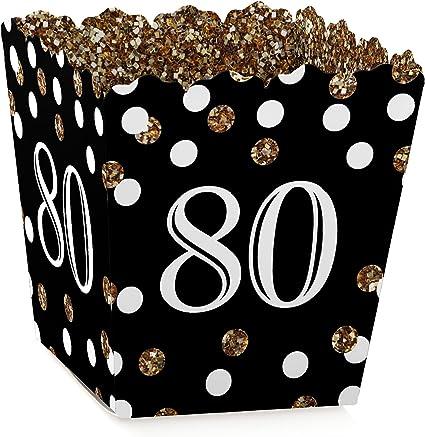 Amazon.com: Adulto 80th Cumpleaños – Oro – Candy Boxes mano ...