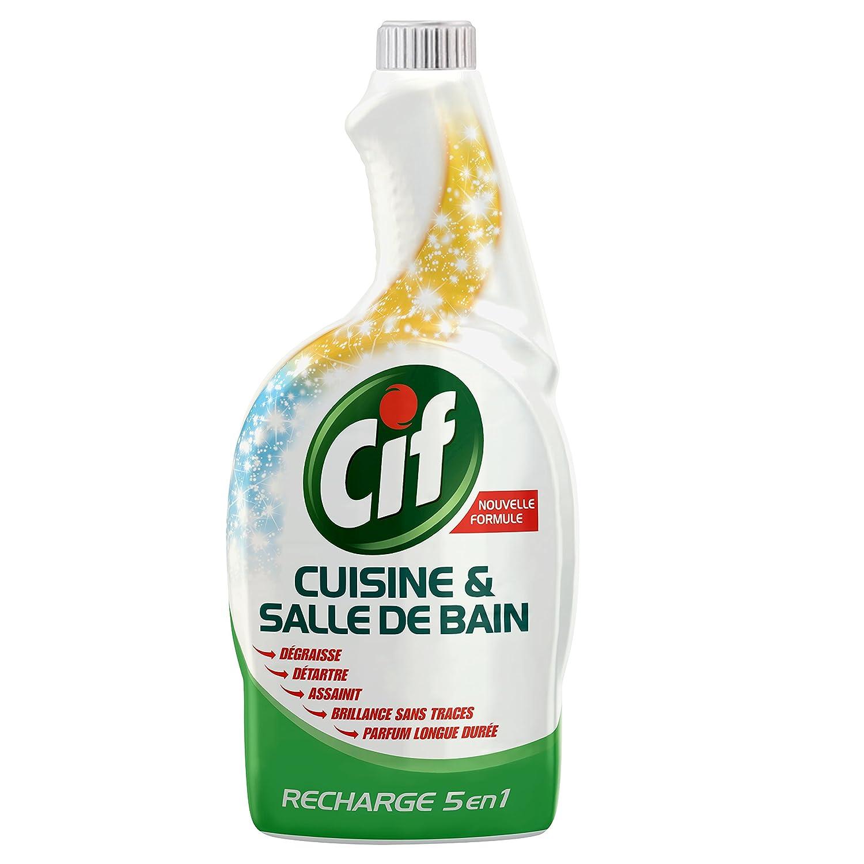 Creme A Recurer Salle De Bain ~ cif pistolet spray nettoyant cuisine salle de bain 750ml lot de