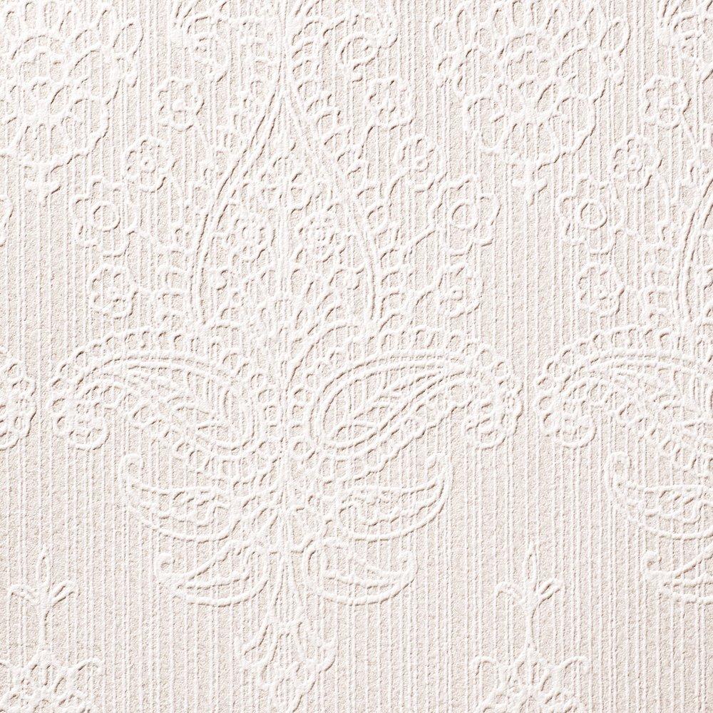 ルノン 壁紙27m フェミニン ダマスク ホワイト デザインパターン RH-9418 B01HU190HA 27m|ホワイト