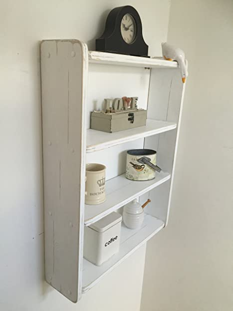 Neu! 70 cm H X B 54 cm weiß Shabby Chic, Wandregal Regal für Küche ...