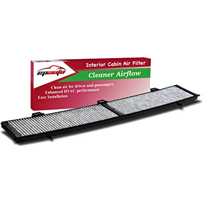 EPAuto CP430 (CUK8430) Replacement for BMW Premium Cabin Air Filter includes Activated Carbon for 100 Series (2008-2013), 300 Series (2006-2013), 700 Series (2013), X1 (2013-2015): Automotive