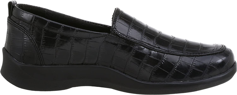 Aetrex Womens E220 Rosalynn Leather Slip-on