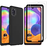 GESMA for Samsung Galaxy A31 Case with Screen Protector, [1 Case+2 Screen Protector+1 Tray] Scratch Resistant Case Tempered G