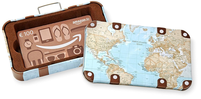 Amazon.de Geschenkkarte in Geschenkbox (Reisekoffer) - mit kostenloser Lieferung per Post Amazon EU S.à.r.l. Fixed