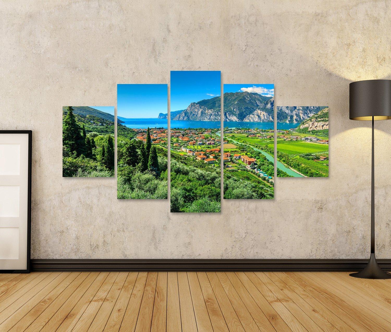 Islandburner Bild Bilder auf Leinwand Gardasee Italien wunderschöne Landschaft Poster, Poster, Poster, Leinwandbild, Wandbilder 29ebdc