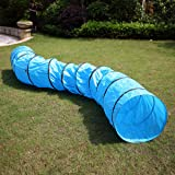 COZIWOW 16.4FT Dog Agility Tunnel Training Equipment, Dog Obstacle Course Backyard Playground, Outdoor Pet Play Tunnel…