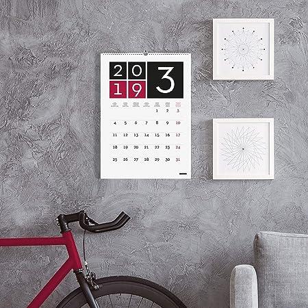 Calendario de pared 2019 internacional: Amazon.es: Oficina y papelería