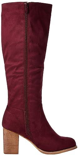 KB001, Bottes déquitation Femme - Rouge - Rouge (Wine A), 39Joe Browns