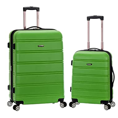 Rockland 20 , 28  2pc Expandable Abs Spinner Set, Green