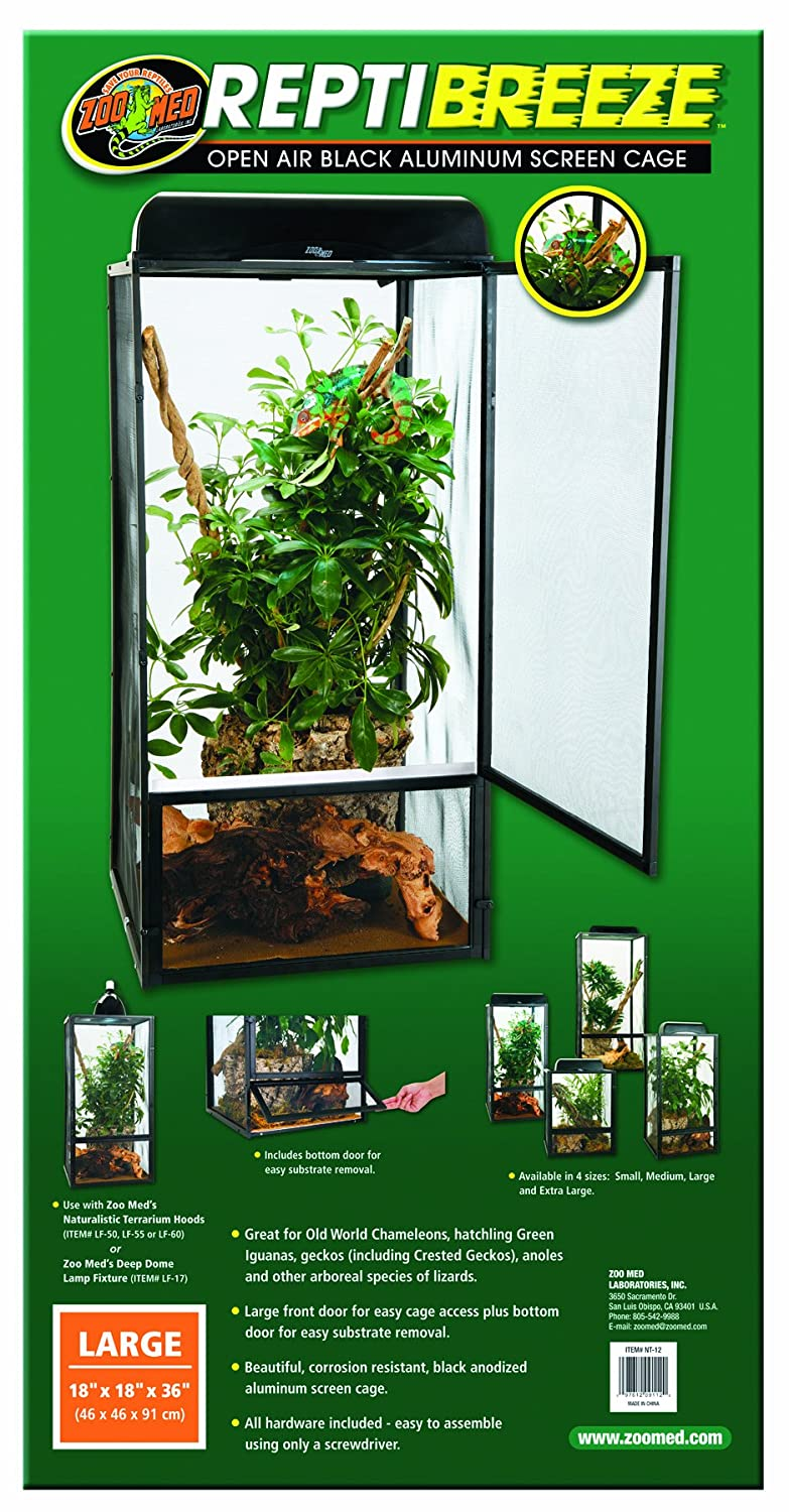 Zoomed 600U-ZM/RE10009 Terrario Reptibreeze Mediano, 40 x 40 x 76 cm. Zoo Med NT11