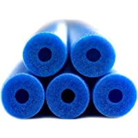 Fix Find - Pool Noodles - 5 Pack of Large 48 Inch Hollow Foam Pool Swim Noodles | Blue Foam Noodles