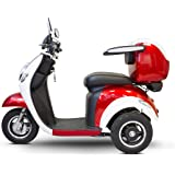E-Wheels - EW-37 Vintage Scooter - 3-Wheel - Red