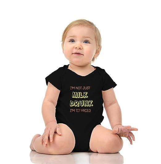 Amazon.com  I m NOT JUST Milk Drunk I m TIT Faced - Funny Drinking Milk  Baby Romper Onesie Unisex  Clothing eaa5c5674