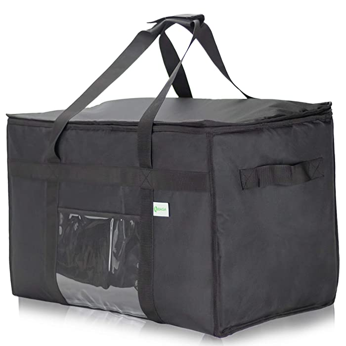 "Commercial Insulated Food Delivery Bag XXL - 23"" x 14"" x 15"" Waterproof Delivery Bag For Hot Food Delivery - Premium Food Warmer Bag For Uber Eats And Doordash Food Delivery"