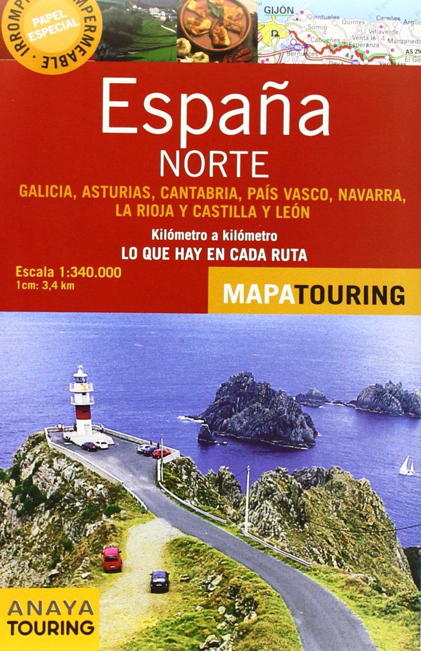 Norte De España. Mapa De Carreteras. Escala 1:340.000 Mapa Touring ...