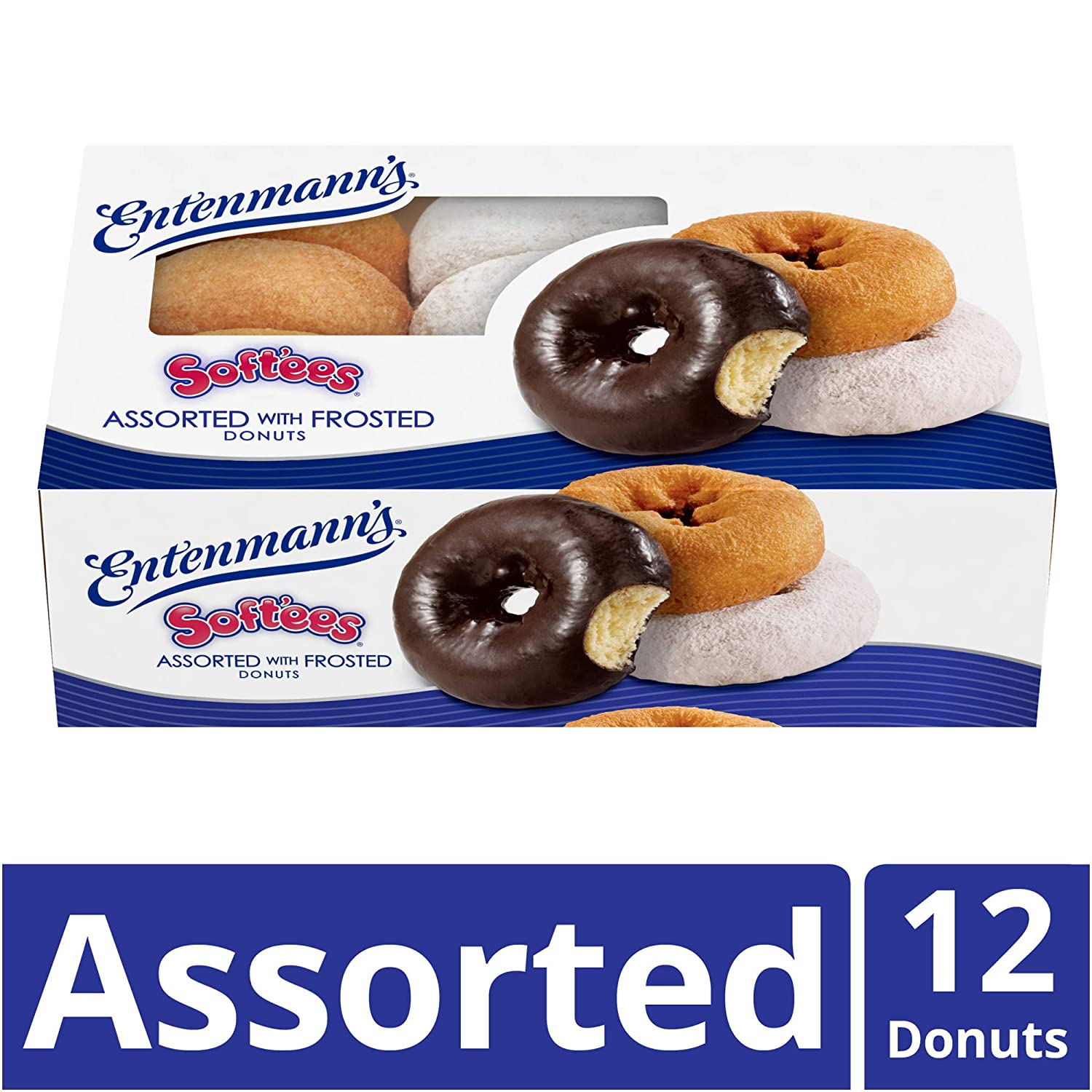 De Entenmann softees Family Pack 12 Assorted Donuts 22 oz ...