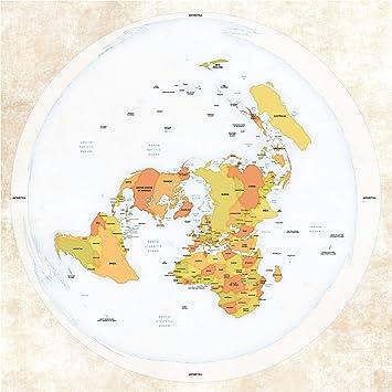 Gleason Flache Erde Karte.Flache Erde Karte Flat Earth Map Azimuthel äquidistant Azimuthel