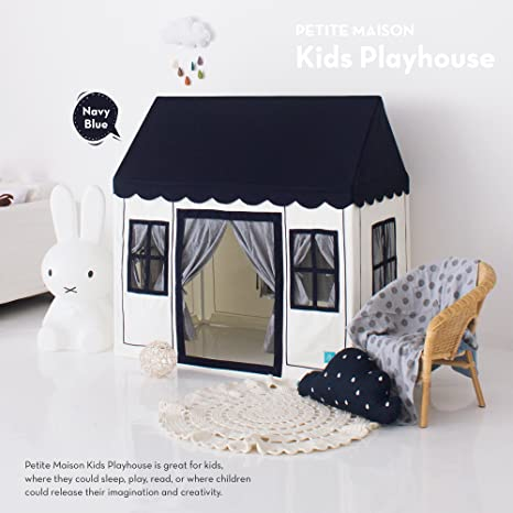 san francisco dee3d 8c5af Petite Maison Kids Cotton Play House Tent, Navy Blue: Amazon ...