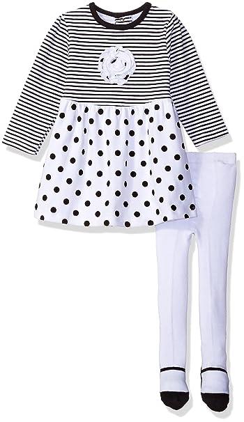 Amazon.com: Bon Bebe Niña 2 Piezas Dress Set con cuello ...