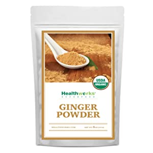 Healthworks Ginger Powder (8 Ounces) | Ground | Raw | All-Natural & Certified Organic | Keto, Vegan & Non-GMO | Great with Coffee, Tea & Juices | Antioxidant Superfood/Spice