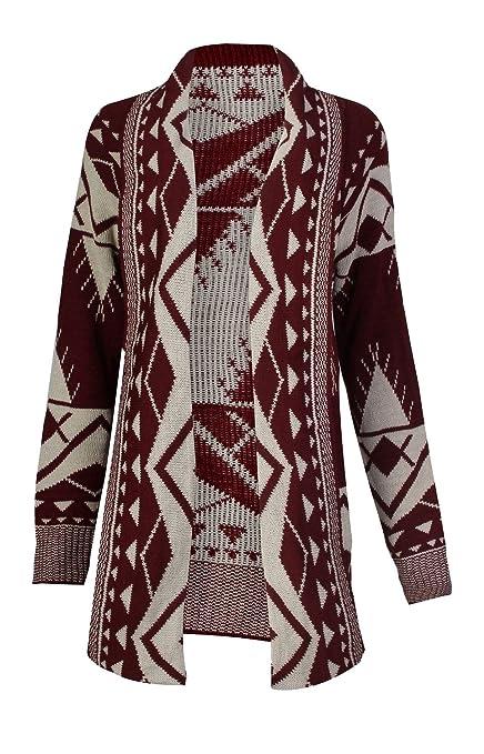 SEXYARN Women's Geometry Knit Cardigan Sweater Poncho Aztec Cape Cloak