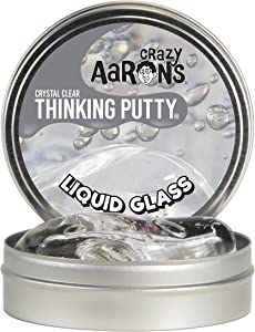 Crazy Aaron's Thinking Putty 4 Inch Tin (3.2 oz) - See-Through Putty, Soft Texture - Never Dries Out