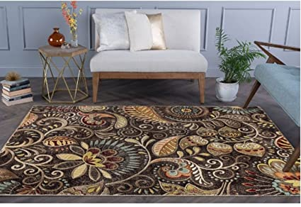 Amazon Com Paisley Floral Pattern Area Rug Featuring Artful Nature