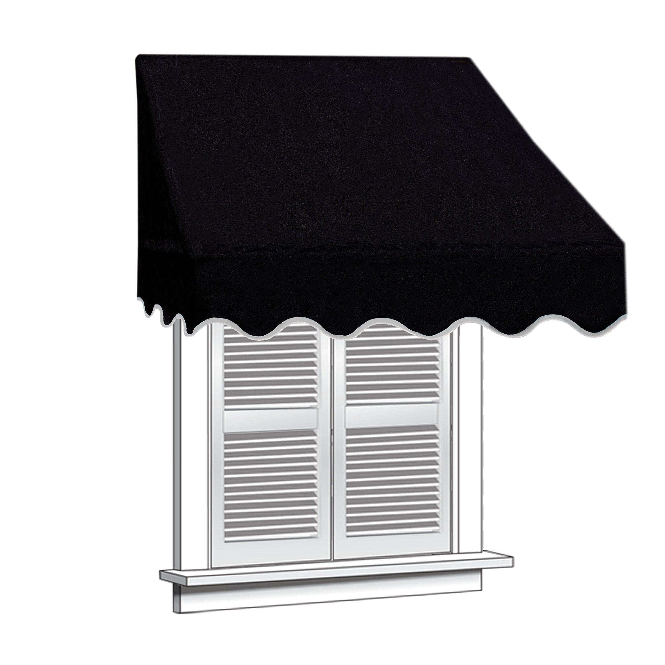 ALEKO WAW8X2BLACK81 Window Canopy Awning 8 x 2 Feet Black