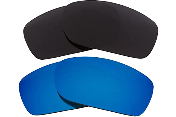 Best SEEK Replacement Lenses Oakley FIVES SQUARED Polarized Black Blue 23f8d2a0ee57