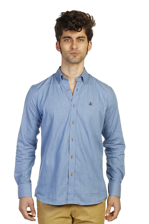 S THE TIME OF BOCHA Man Shirt Boton bleu
